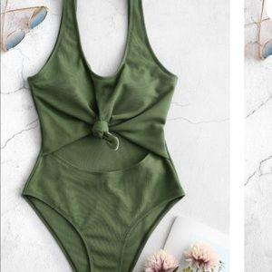 Zaful green swimsuit